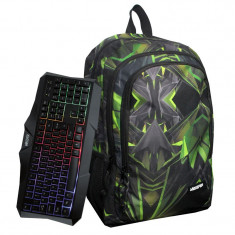 Rucsac multifunctional Green Unkeeper, tastatura si mouse incluse