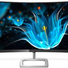Monitor LCD VA LED Philips 27inch 278E9QJAB, Full HD (1920 x 1080), VGA, HDMI, DisplayPort, Ecran Curbat, Boxe, 75 Hz, 4 ms (Negru/Argintiu)