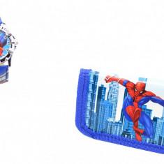 Set ceas pentru copii cu Spiderman si portofel cadou - MK03BL