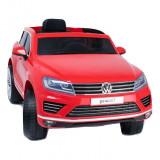Masinuta electrica copii, lumini LED, volan sport, Volkswagen Touareg