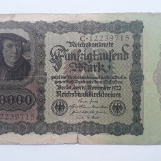 50000 Mark 1922 Germania marci vechi