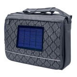 Geanta laptop cu incarcator solar Bresser, adaptor USB, Nailon, Gri