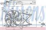 Ventilator, radiator OPEL ASTRA G Combi (F35) (1998 - 2009) NISSENS 85154