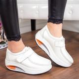 Pantofi Piele Visva albi -mr -rl