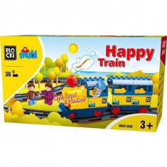 Joc constructie Blocki mubi, Trenulet, 36 piese