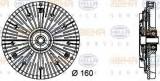 Vascocuplaj / Cupla ventilator radiator MERCEDES SPRINTER 2-t caroserie (901, 902) (1995 - 2006) HELLA 8MV 376 732-071