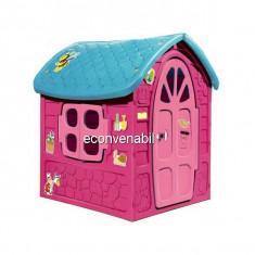 Casuta de joaca pentru Copii 120x113x111cm model Roz