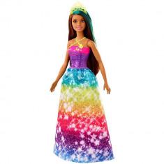 Papusa Barbie Dreamtopia printesa cu coronita galbena