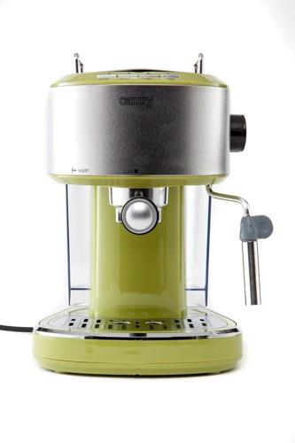 Espressor Cafea sau Cappuccino Camry, Putere 850W, Rezervor Apa 1L, Culoare Verde