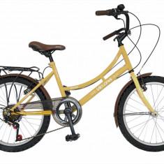Bicicleta copii 20 FIVE Excadrill cadru otel culoare crem maro varsta 7 10 ani