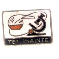 Insigna pionieri Tot Inainte, chimie