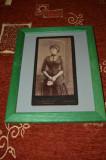 Distinsa doamna ,fotografie veche ,atelier britanic ,anii 1890 -1900