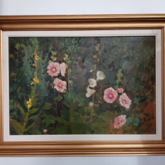 OTTO BRIESE-PICTOR IESEAN-LUMÂNĂRELE-ULEI/CARTON-69×46 CM