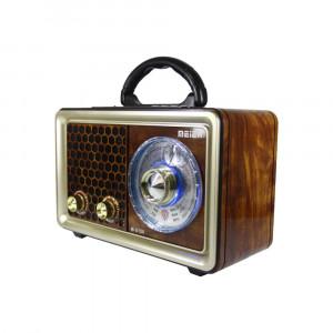BOXA VINTAGE AMPLIFICATA CU MP3 PLAYER,STICK,CARD,RADIO,ACUMULATOR,SUNET HI FI.