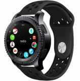 Curea ceas Smartwatch Samsung Gear S2, iUni 20 mm Silicon Sport Black
