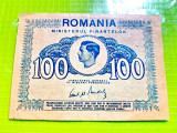 C565-I-Bancnota 100 lei Romania veche 1945. Circulata, stare buna.