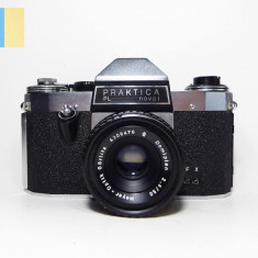 Praktica PL nova I cu obiectiv Meyer-Optik Gorlitz Domiplan 50mm f/2.8 M42 mount