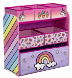 Organizator jucarii cu cadru din lemn Rainbow, Multicolor