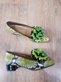 LICHIDARE STOC! Superbi pantofi dama noi piele naturala integral handmade 37