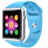 Cumpara ieftin Smartwatch cu Telefon iUni A100i, BT, LCD 1.54 Inch, Camera, Albastru