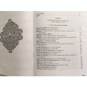 ANTOLOGIE CORALA, RELIGIOASA SI LAICA, PENTRU FORMATII MIXTE- PR NICU MOLDOVEANU