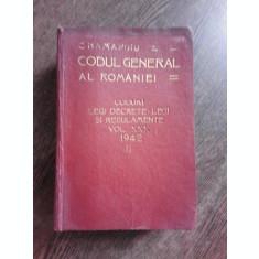 CODUL GENERAL AL ROMANIEI VOL. XXX 1942 - II -