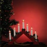 Lumanari decorative de Craciun, becuri tip flacara, lumina rosie, Home