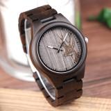 Cumpara ieftin Ceas din lemn Bobo Bird cu curea din lemn, I26