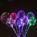 Balon Bobo LED multicolor, 3 moduri iluminare, rotund, 40 cm