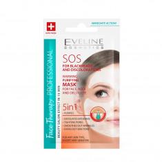 Masca de fata termica purificatoare Eveline Cosmetics SOS 5 in 1 7 ml