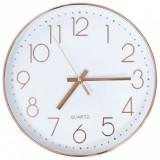 Ceas de perete, auriu rose, 30 cm, vidaXL