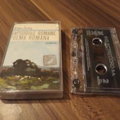 CASETA AUDIO GEORGE ENESCU-RAPSODIILE ROMANE/POEMA ROMANA ORIGINALA ELECTRECORD