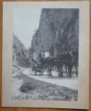 Foto ; Cu trasura prin Cheile Tatarului , Bucegi , 1909 , colab. lui A. Saligny