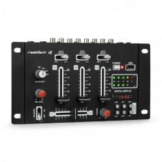 Resident DJ DJ-21, dj-mixer, pult de mixaj, usb, negru