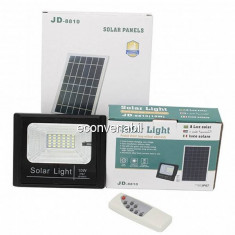 Proiector 30LED SMD 10W cu Panou Solar si Telecomanda IP67 JD8810