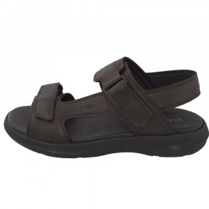 Sandale barbati, din piele naturala, marca Geox, U926VA-C0013-02-06, maro , marime: 42