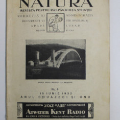 NATURA - REVISTA PENTRU RASPANDIREA STIINTEI , ANUL XXI , NO. 6 , 15 IUNIE , 1932