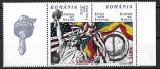 B0389 - Romania 2002 - Nato 2v.cu vigneta neuzat,perfecta stare, Nestampilat
