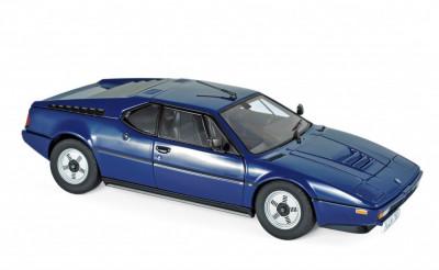 Macheta Auto Norev, BMW M1 1980 - Albastru 1:18 foto
