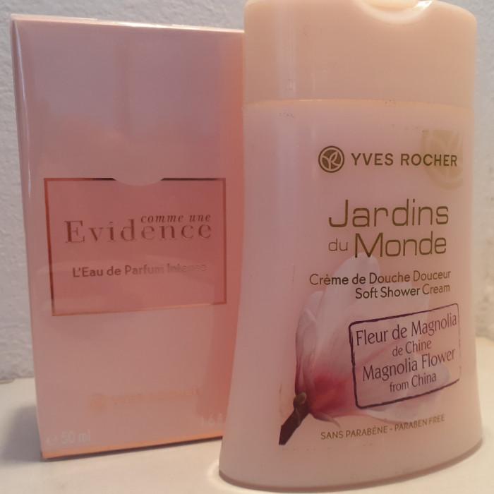 Parfum Comme Une Evidence Intense, Yves Rocher, 50 ml + Gel dus Magnolie cadou