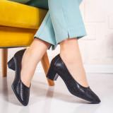 Pantofi cu toc dama negri Crialis