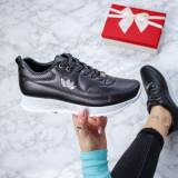 Pantofi dama sport negri cu alb Rozilia-rl