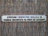 Semn tabla emailata romaneasca decor colectie protectia muncii comunista