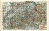 Harta a Elvetiei( Schweis) ~ 1895