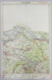 HARTA ZONEI SATU MARE - BAIA MARE , LITOGRAFIE de M.D. MOLDOVEANU , 1936
