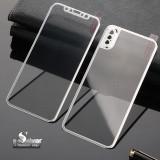 Folie protectie din sticla pentru Iphone X, full cover, argintiu