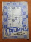 Revista olimpia octombrie 1986-club sportiv olimpia bucuresti