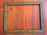 Arta / Design - Veche rama deosebita din lemn pentru oglinda sau fotografii !