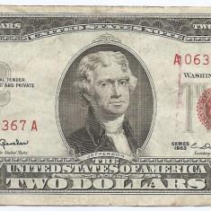 Statele Unite (SUA) 2 Dolari 1963 - (Serie Red-06300367) P-382