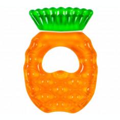 Inel Gingival Bebelusi, OEM, pentru Dentitie si Dureri Gingivale, cu Apa Sterila, Non-Toxic, fara BPA, model Ananas